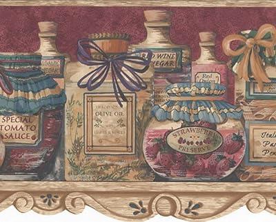Brown Condiments In Jar Wallpaper Border103011 KB