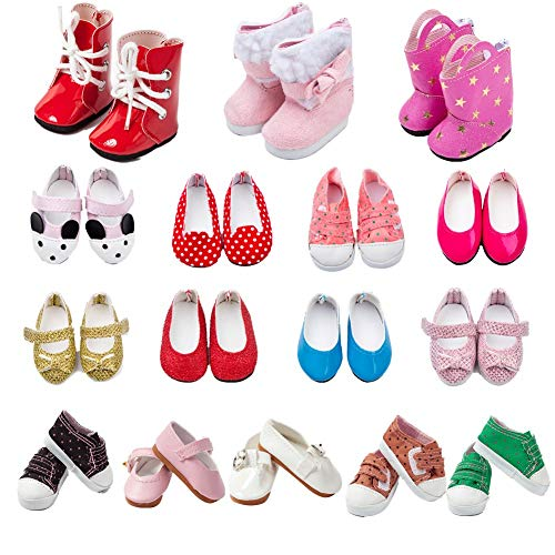 Baby Doll Shoes - TOYYSB 6 Pairs of Shoes Fits
