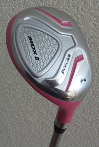 """Womens Complete Golf Set Custom Made for Petite Ladies 5'0""""-5'5"""" Tall Taylor Fit Driver, Wood, Hybrid, Irons, Putter, Bag Graphite Lady Shafts Beautiful White with Pink Color Accents"""