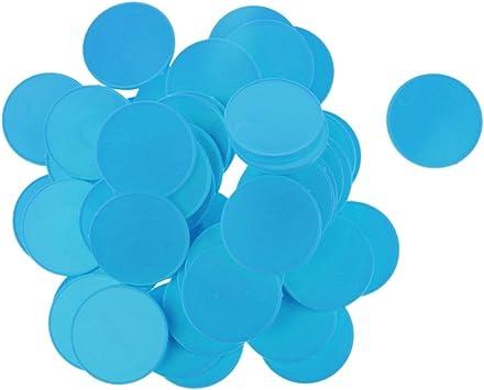 Juego De Fichas De Póker De Colores Brillantes De Plástico Juego De Mesa para Niños Contadores De Juegos De Mesa - Azul Cielo: Amazon.es: Juguetes y juegos