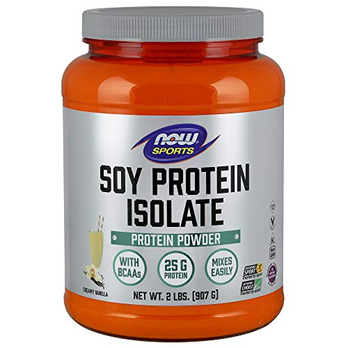Now Sports Nutrition, Soy Protein Isolate Powder, Creamy Vanilla, 2-Pound