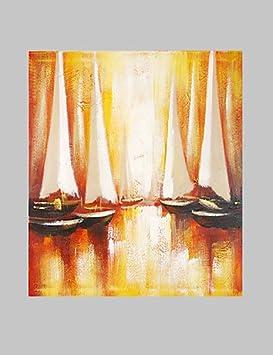 Toallas F.Latoo de dibujo abstracto de barco de la decoración de la mano de: Amazon.es: Hogar