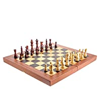 Handmade Mahogany Wood Backgammon, Chess, Checkers Game Set - Large