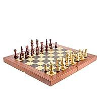 Handmade Mahogany Wood Backgammon, Chess, Checkers Game Set - Large
