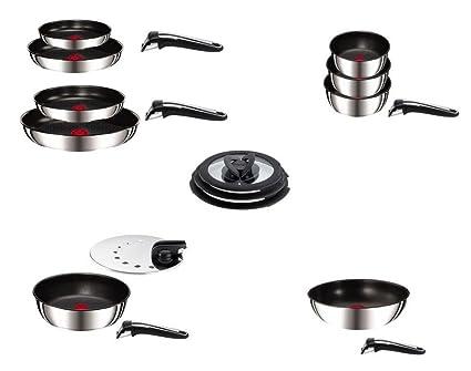 Tefal Ingenio Gourmet-Batería de cocina acero inoxidable, 18 ...