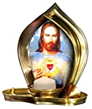 Candle Heart of Jesus Christ - Religious Christian Light Collectible Candle Divine Light Sacred Heart of Jesus Christ