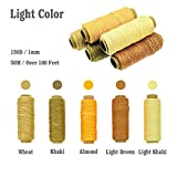 BIGTEDDY - 10 Colors 150D 1mm Hand Stitching Waxed Leather Thread Supplies with 7 Needles Tools Set for DIY Project Leathercraft Sewing Repair 50+ Yards Each Color