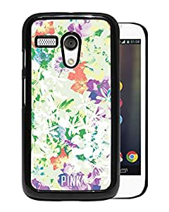 Beautiful Designed Victoria's Secret Love Pink Cover Case For Motorola Moto G in Black Phone Case 64