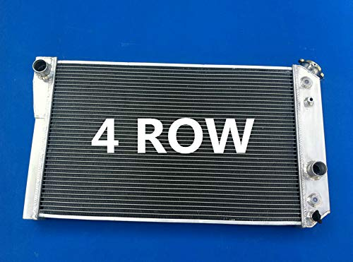 4 Row Aluminum Radiator For Chevy Corvette//S10 V8 Conversion 1984-1990 89 88 87