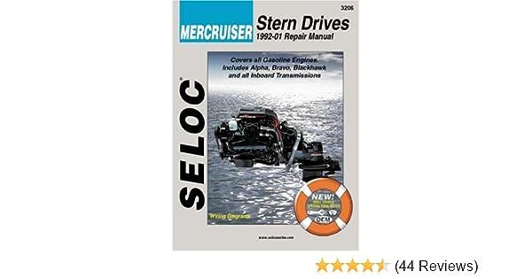 mercruiser stern drives 1992 2001 repair manual seloc rh amazon com Mercruiser Bravo 1 Mercruiser Bravo 3