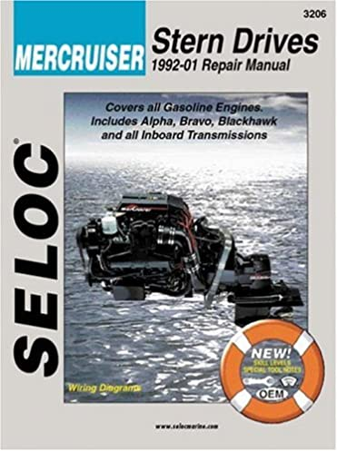 mercruiser stern drives 1992 2001 repair manual seloc rh amazon com mercruiser bravo 2 service manual mercruiser bravo 2 outdrive manual