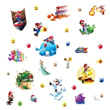 RoomMates 871SCS Nintendo Mario Galaxy 2 Peel and Stick Wall Decals