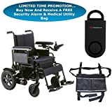 Drive Cirrus Plus EC Folding Power Wheelchair, 16'' Seat & FREE 130 dB Black Personal Safety Alarm/Siren! + Black Medical Utility Bag!