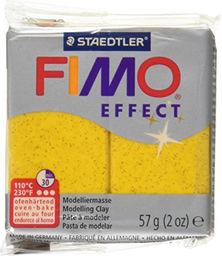 Staedtler Fimo Soft Polymer Clay 2 Ounces-8020-112 Glitter Gold