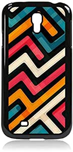 Abstract Geometric Shapes - Case for the Galaxy S4 i9500 -Hard Black Plastic Case