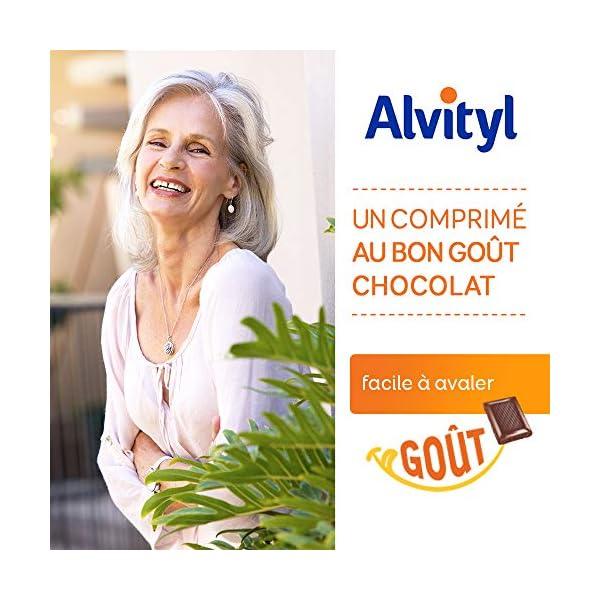 Alvityl Vitalité à avaler, goût chocolat – 12 Vitamines et 8 Minéraux – Dès 6 ans – 90 comprimés