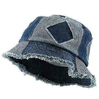 Denim Bucket Hat-Blue Cut OSFM