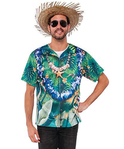 MARS Costume Adult Size Mens Printed Classic Hawaiian Tourist Shirt ()