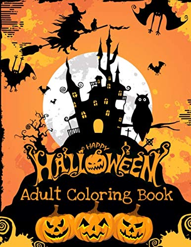 Skull Halloween Coloring Pages (Adult Coloring Book: Happy Halloween: 30 Halloween Illustrations for Relaxation and)