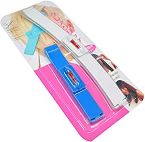 Hair Styling Bangs Trimmer Hair Styling Scissors Ruler Hair Clipper Hairdressing Salon Kit Set (Blue)