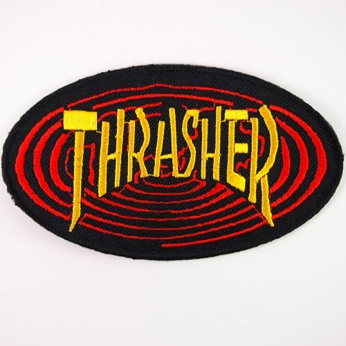 THRASHER SKATEBOARD MAGAZINE PATCHES # WITH FREE GIFT