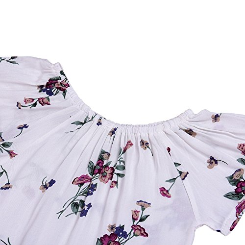 5152f29e2 BAOBAOLAI Baby Girls 2PCs Skirt Set Short Sleeved Floral Romper Onesie with Suspender  Skirt Outfits