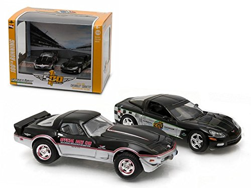 1978 & 2008 Chevrolet Corvette Indianapolis Indy 500 Pace Cars Set of 2 1/64 by Greenlight (1978 Corvette Pace Car)