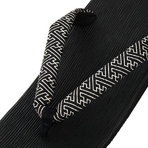 Edoten Japan Hakeme Zwarte Stta Sandalen (back Spons) Saya Type