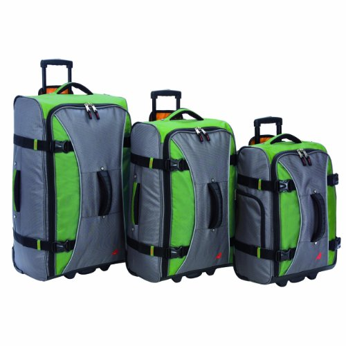 Athalon Luggage 3 Piece Hybrid Travlers Set, Grass Green, One Size Review