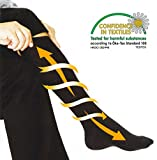 Smartrip Compression Socks Graduated for Performance and Recovery, Flight Travel & Dress Socks for Men and Women, 1 Pair Knee High Black (S) Review