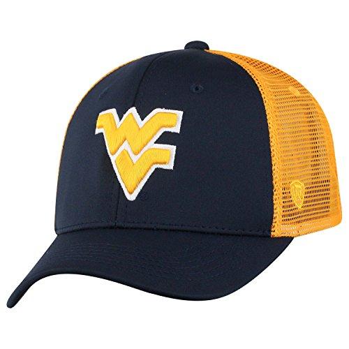 (Top of the World NCAA-Ranger Trucker Mesh-Adjustable Snapback Hat Cap (West Virginia Mountaineers, Adjustable))