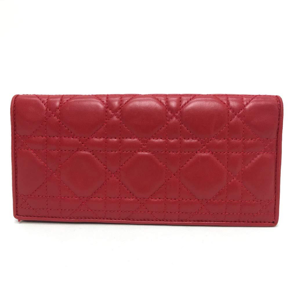 (クリスチャンディオール)Christian Dior レディディオール 2つ折り長財布 長財布(小銭入れあり) レザー/レディース 中古   B07KRBCTXF