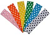 Polka Dot Cotton Headband Set of 6 ~ Ideal For Embroidering & Heat Transfer!