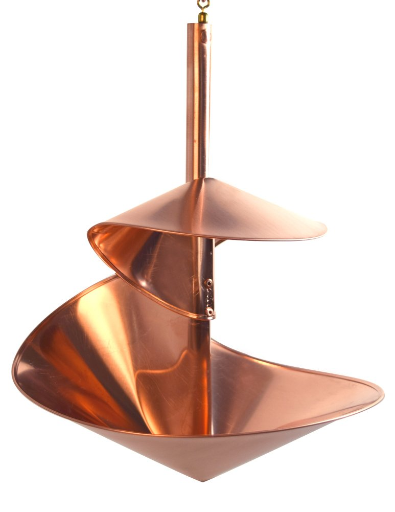 Hanging Birdbath / Water Feeder - ''Copper Spiral'' / 16'' Diameter by Modern Artisans