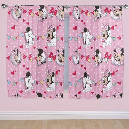 Disney 72-inch Minnie Mouse Cafe Curtains, Multi-Colour