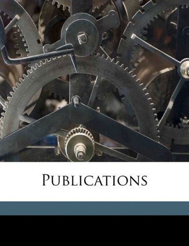 Download Publications Volume new series, v.22 ebook