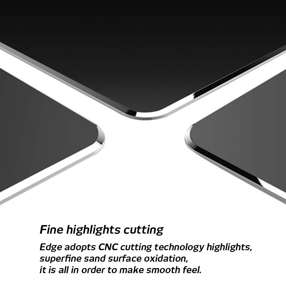 9 inch X 7.1 inch DaKuan Smooth Magic Ultra Thin Double Side Mouse Mat/ for Fast and Accurate Control/  Silver /& Black Compatible with Magic Mouse 2 Pack Gaming Aluminum Mouse Pad