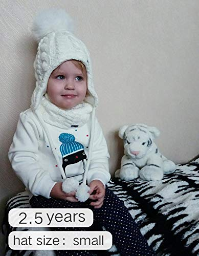 a2eebbc8b93 Kids Winter Hat and Scarf Set for Baby Girls Boys Toddler Knit Beanie Hat  Pom Pom