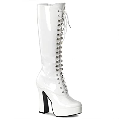 d81a830bab5f Pleaser ELECTRA-2020 Women s Knee Boot Lace up 5 quot  Platform (Gogo) Boots