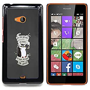 GIFT CHOICE / Teléfono Estuche protector Duro Cáscara Funda Cubierta Caso / Hard Case for Nokia Lumia 540 // FUNNY - GRUMPY ANGRY OWL //
