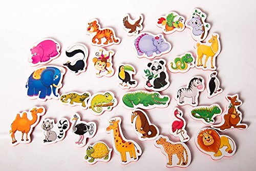 Refrigerator Magnets ZOO (29pc) Educational Toys Refrigerator Toys Fridge Toys Magnetic Toys Fridge Magnets For Kids Fridge Magnets Baby (Magnet Toys For Fridge compare prices)