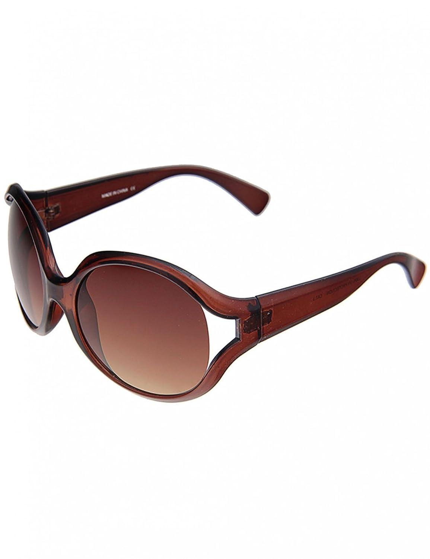 Leslii Damen-Sonnenbrille Boho-Look Schwarz Kunststoff Ø Glas inkl. Brillenrand 6cm 310216126 omYEDQI0Ny