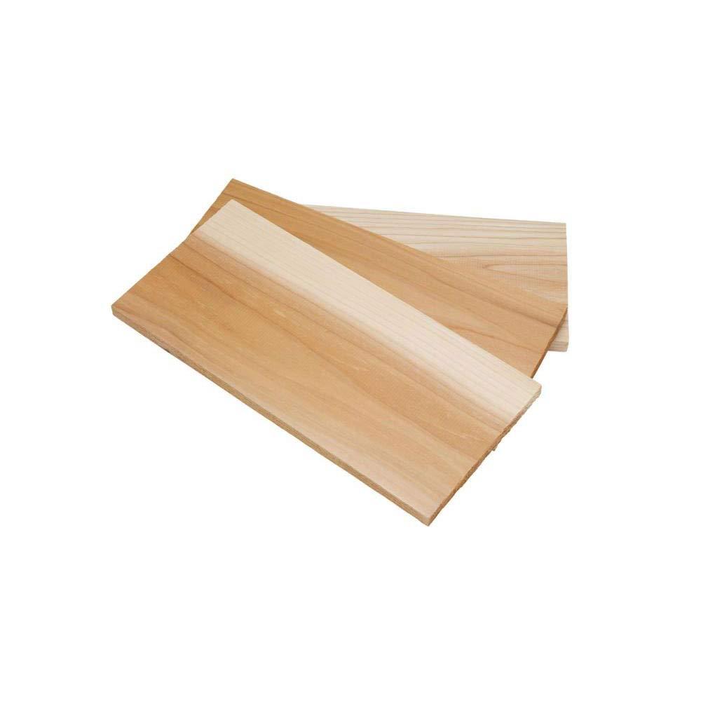 Bull Himalayan Pink Salt Block & Cedar Wood Grilling Plank Boards (Pack of 3)