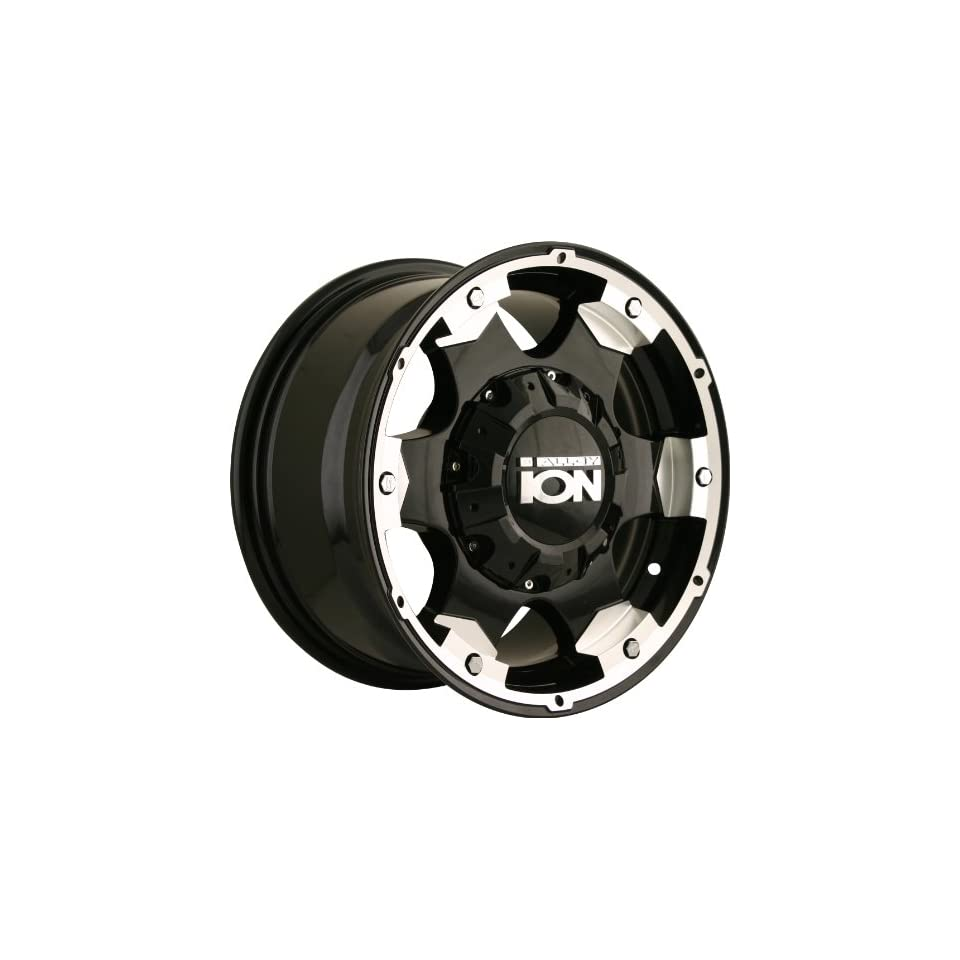 Ion Alloy 194 Black Wheel with Machined Face and Lip (16x8/10x127mm)