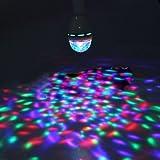 E27 3W RGB 3LED Spotlight Ampoule Eclairage Lumiere Plafonnier Rotatif Scene Deco Fete Noel