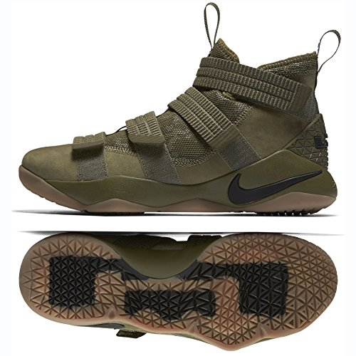 369c2b590d0c Galleon - NIKE Lebron Soldier XI SFG 897646-200 Medium Olive Black Men s  Basketball Shoes (8.5)