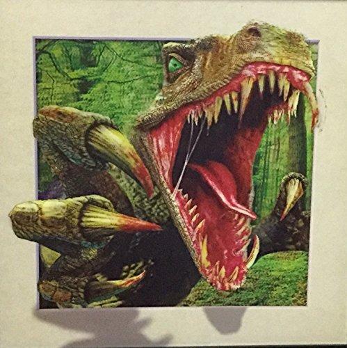 3D T-REX Dinosaur Poster- Unbelievable Life Like 3D Art Pictures, Interactive Work! Lenticular Posters, Cool Deco, Unique Wall Decor, Dinosaur Theme, Tyrannosaurus Rex