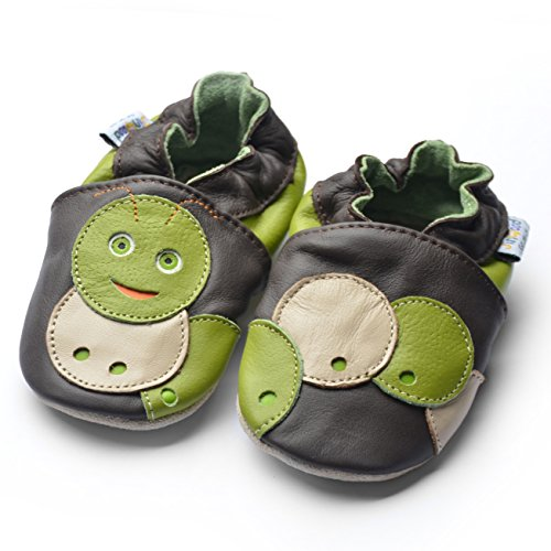 Jinwood designed by amsomo - Patucos para niña Multicolor - sweet worm brown soft sole