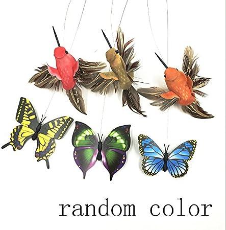 Monlladek Elektrische Fliegende Schmetterlinge um Blumen und Katzenspielzeug Haustierspielzeug Praktisch