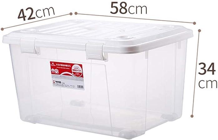 YQAD Caja de plástico sellada/Cajas de Almacenamiento Anti - Insectos a Prueba de Polvo de Estilo japonés Adecuado para Almacenamiento Modelo de muñeca de Juguete Abrigo de algodón Mantas Finas y otr: